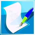 Pen paper — Stock Vector