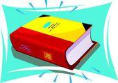 Gele boek — Stockvector