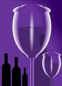 Goblet of wine — Vecteur