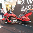 Foto Stock: A red motorcycle