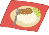 Gıda dijital sanat — Stok Vektör