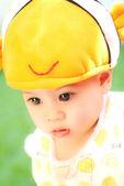Closeup portrait of little Asian girl — Fotografia Stock