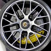 logo of  Porsche on wheels — Stock Photo