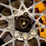 Logo of  Lamborghini on wheels — Stock Photo #48233909