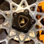 Logo of Lamborghini on wheels — Stock Photo #48233941