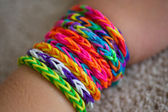 Loom bracelets — Stock Photo