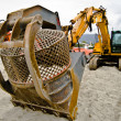 Stock Photo: Yellow bulldozer