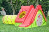 Playhouse with slide — Stock Photo