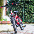 Stock Photo: Child's bike red