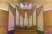 A large organ in the concert hall — Stock Photo