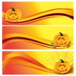 Autumn Halloween Banner — Vector de stock