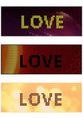 Love banner — Vector de stock