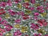Flower fabric wall — Stock Photo