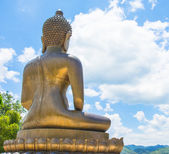 Back view Buddha statue — Stock Photo