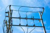 Wire high voltage pole — Foto Stock