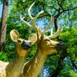 Two reindeer statue — Stock Photo