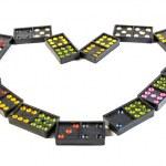 Heart of domino — Stock Photo #51601569