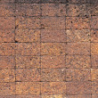 Laterite stone brick wall. — Stock Photo