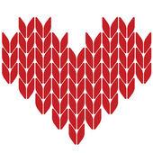 针织的心。情人节卡片。矢量插画 — 图库矢量图片