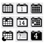 Calendar icons set. — Stock Vector #47541265