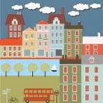 piccola città — Vettoriale Stock  #47541301