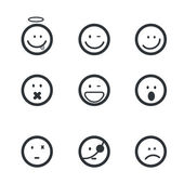 Emotion face icons — Stock Vector