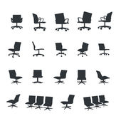 Chair office icons — Stock Vector