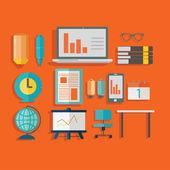 Modern office stuff,working concept — Stock Vector
