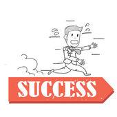 Run to success — Stock Vector
