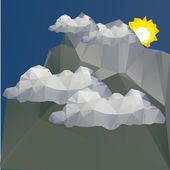 Sunny weather concept — Stock Vector