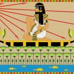 Egyptian Girl on the Boat — Stock Vector #28660345