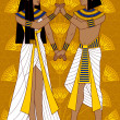 Egyptian Couple — Stock Vector #28660381