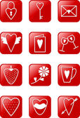 Love Icons Set — Stock Vector