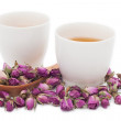 Stock Photo: Rose tea