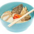 Noodles bowl isolated — Stock Photo #42332345