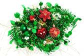Juldekoration på vit bakgrund — Stockfoto