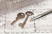 Architecture design with key — Stockfoto