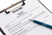 Resume isolated — Stock Photo