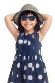 Fashion little girl — Stockfoto