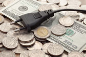 Plug on bill — Stockfoto