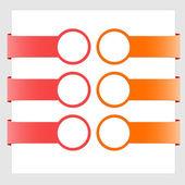 Moderne farbige banner — Stockvektor