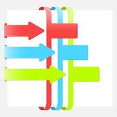 Moderní infographic s barevnými stuhami — Stock vektor
