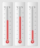 Moderne Thermometer für design — Stockvektor