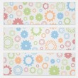 Stock Vector: Background for flyers with colorful gears