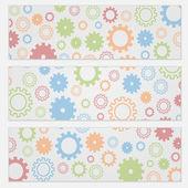 фон для листовок с красочными gears — Cтоковый вектор