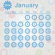 Calendar month of January 2014 — Vector de stock #30598591