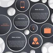 Infografica astratta. modello di design moderno — Vettoriale Stock