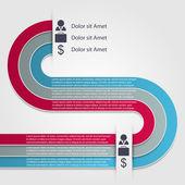 现代信息图。设计元素 — 图库矢量图片
