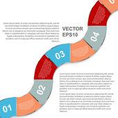 абстрактные векторные инфографики. современный дизайн шаблона — Cтоковый вектор