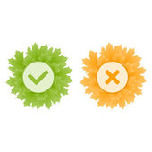 Yes and No icons. Vector. — Stock Vector